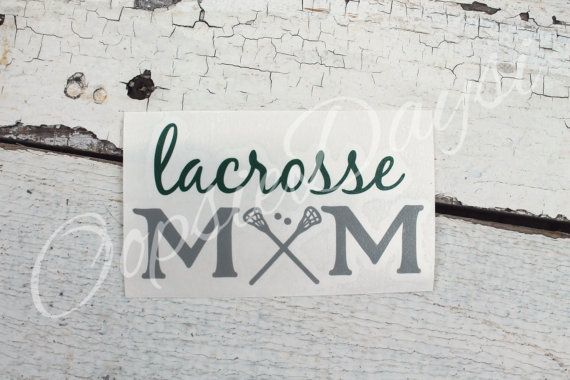 Lacrosse mom car decal custom personalized car by oopsiedaysi