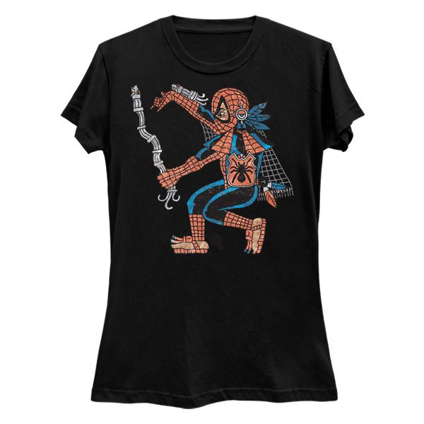 Telpochtli Tocatl  (Aztec SpiderMan) Ladies Slim Fit T-Shirt #aztec