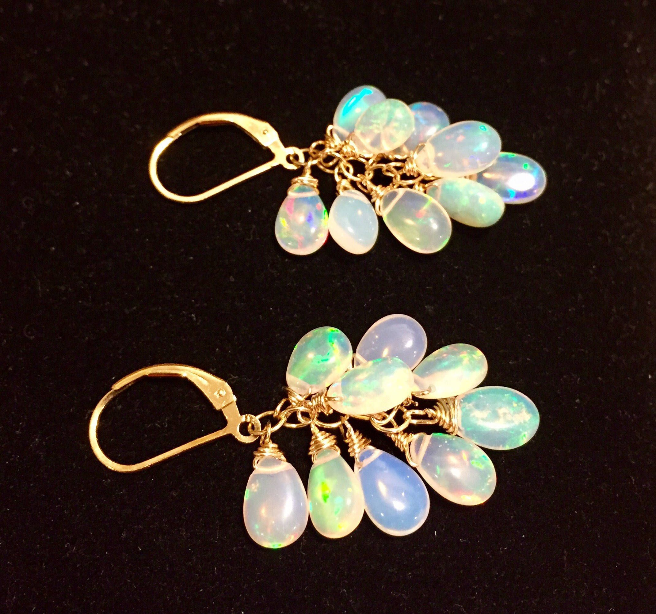on orders earrings shipping free stud watches over opal product overstock goldplated genuine jewelry crown