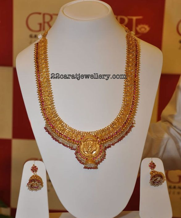 d3a4ba52d1e0f Gold Antique Haram with Pearls from Grt Jewellery | gold | Jewelry ...