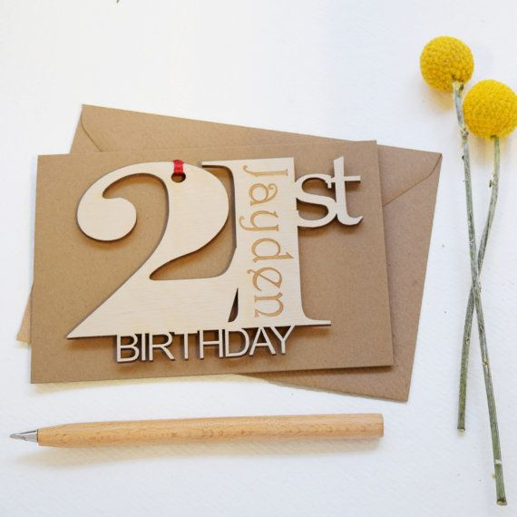Personalised 21st Birthday Card By HickoryDickoryShop On Etsy