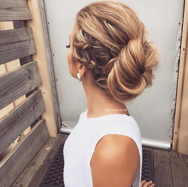 35 Gorgeous Updos For Bridesmaids Stayglam Hair Styles Long Hair Styles Braids For Long Hair
