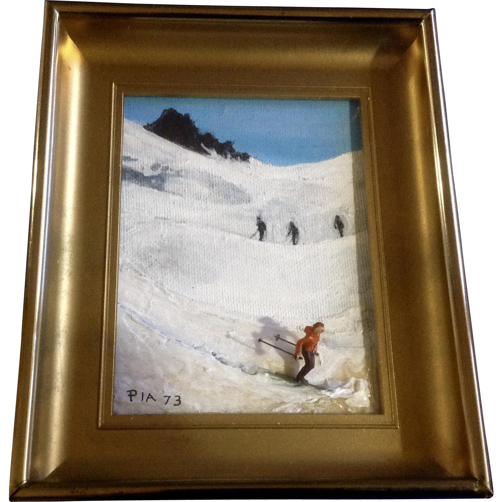 PIA, 3D Downhill Colorado Skier Oil Painting on Canvas Board Signed ...