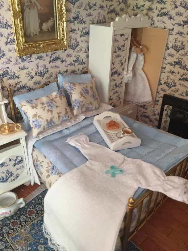 Best Pin By Deb Lawless On Miniture World Barbie Bedroom Dollhouse Furniture Home Bedroom 400 x 300