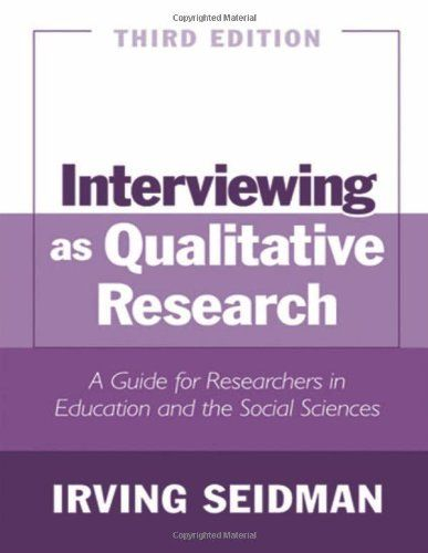 Interviewing A Qualitative Research Guide Library User Group Social Science Dissertation Motivation Education