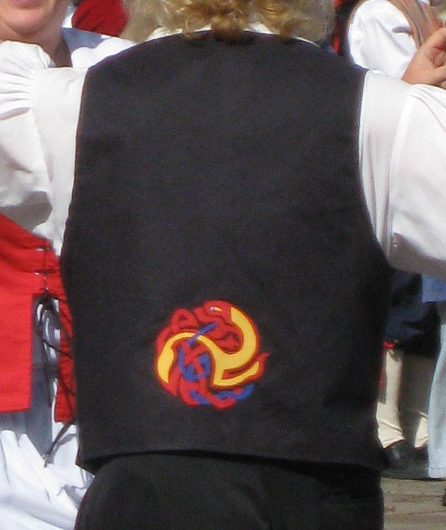 Isle of Man. back of traditional waistcoat