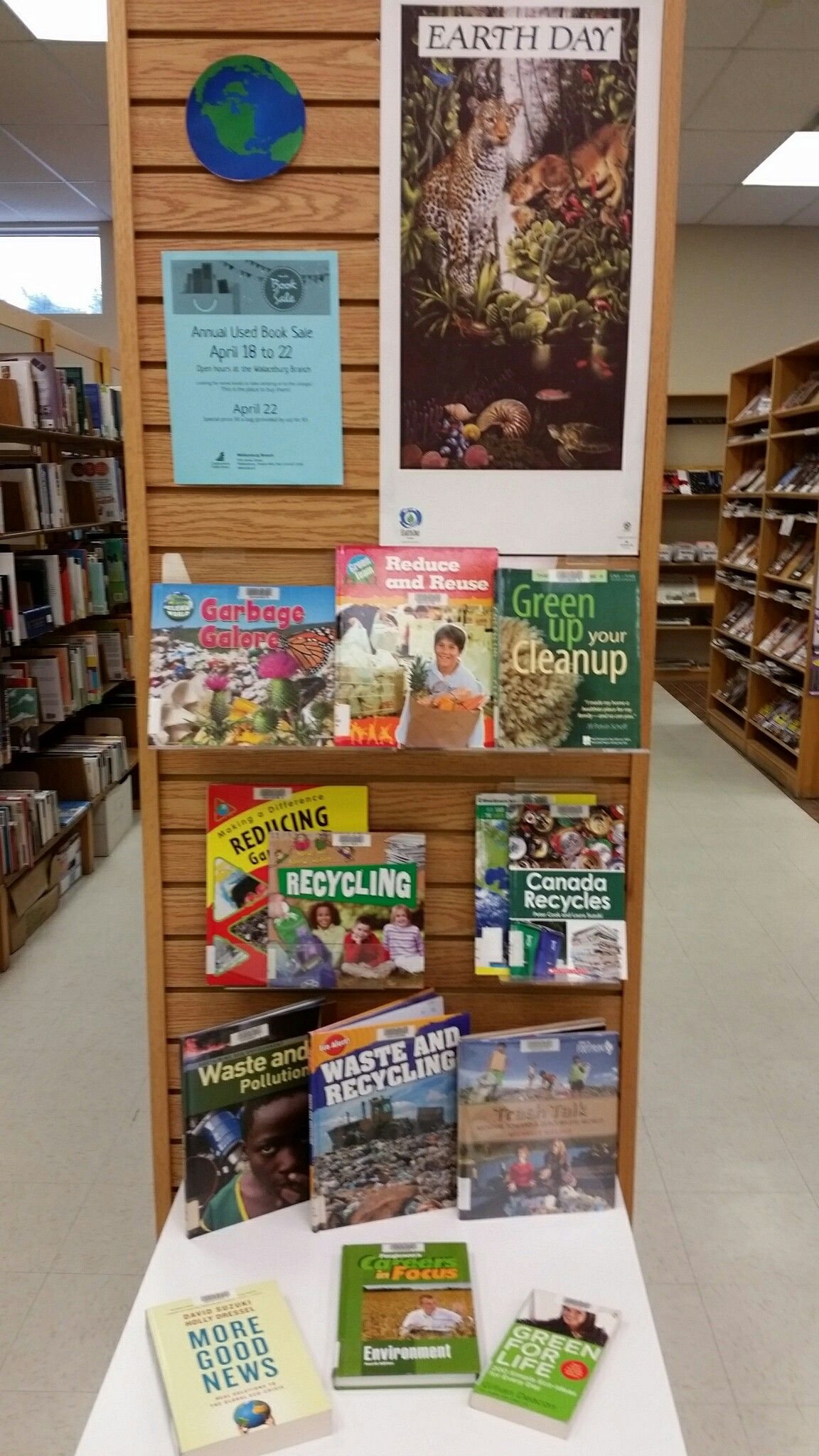Earth daybook sale library display library displays