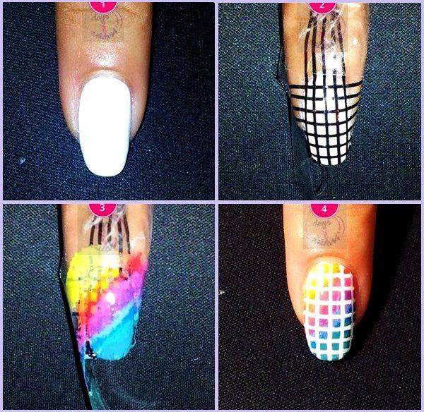 Uñas arcoiris. | uñas | Pinterest