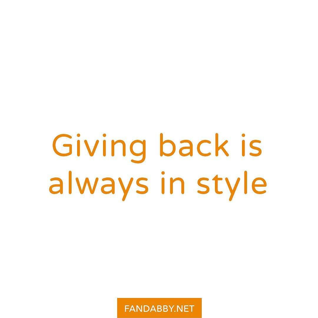 'Giving back is always in style' - As you might already know Fandabby donates 100% (yes all) of its profits to @RethinkMentalIllness and @YoungMindsUk. Today is 'Donation day'! We are pleased to announce Fandabby has reached a total of 604.80 in profits (divided equally between both #charities) which is amazing right? We could not have done it without you. You are all awesome and deserve a huge pat on the back. Simply by following us you have helped Fandabby become the awesome brand it is…