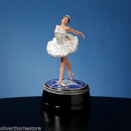 Magnificent San Francisco Music Box Swan Lake Ballet Ballerina Figurine NIB