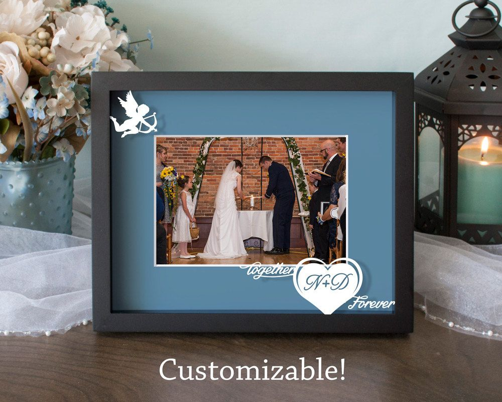 Custom Together Forever Cupid Wedding Frame By Bluesparkboutique Wedding Picture Frames Wedding Frames Rose Wedding