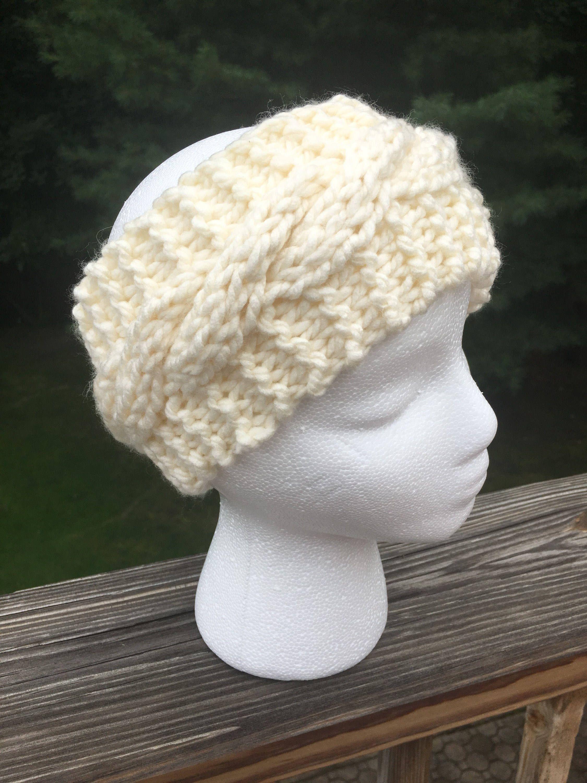 Knit earwarmer white