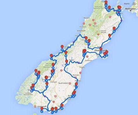 Karte Neuseeland Südinsel Zum Ausdrucken.Pinterest Deutschland