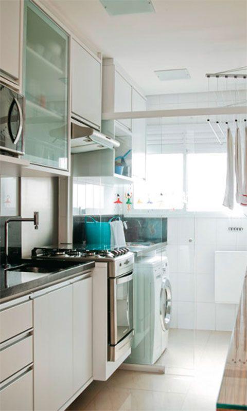 20 reas de servi o pequenas e organizadas cocinas for Muebles para lavanderia de casa