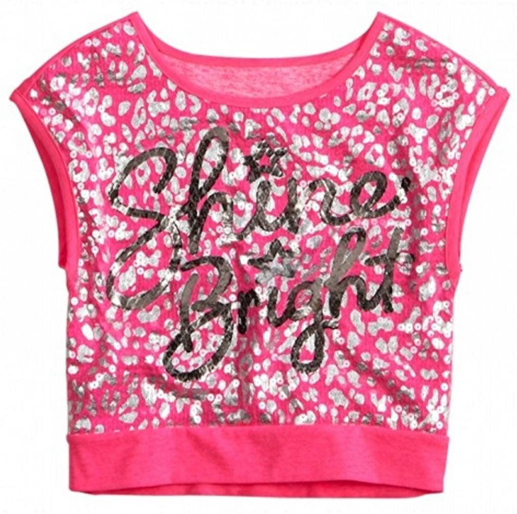 8dd3cc6d Justice Just For Girls Clothing | Justice Girls Sequin Boxy Crop Top Tee  Shirt Neon Blue Green Pink 10 .