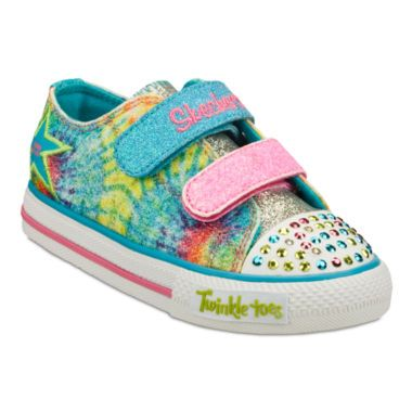 6569ce3a0eba Skechers® Twinkle Toes Shuffles Peace  n Love Girls Sneakers - Toddler  found at  JCPenney