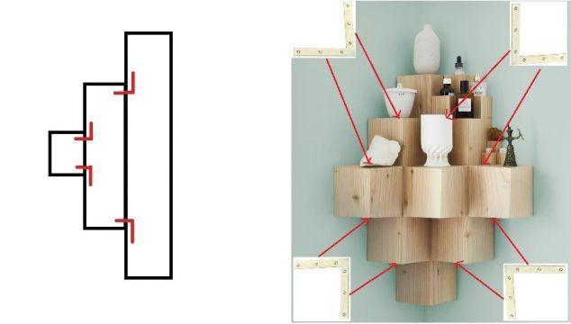 tuto fabriquer bloque etagère bois