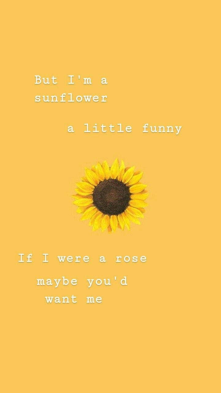 Pin By Tessa P On Papeis De Parede Yellow Quotes Sunflower Wallpaper Cute Girl Wallpaper