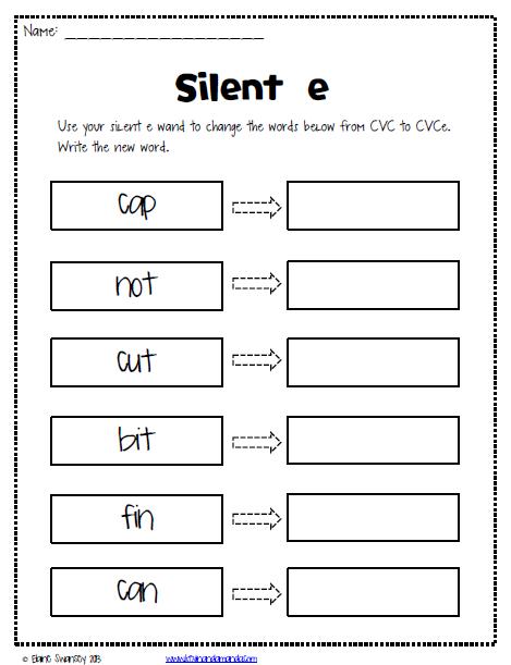 Silent E Worksheets Free Elementary Worksheets Pinterest