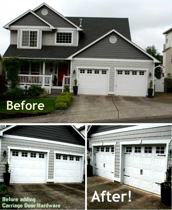20 easy and cheap diy ways to enhance the curb appeal for Garage door curb appeal