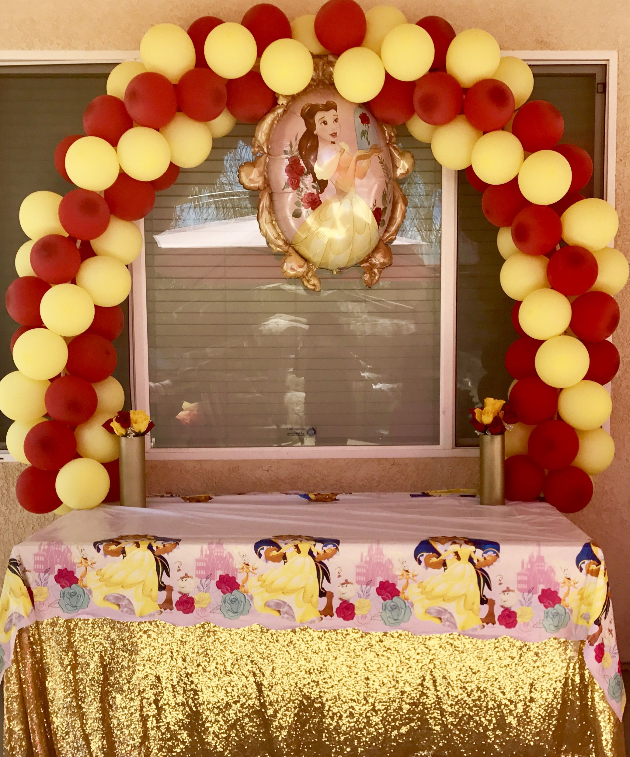 Beauty and The Beast Balloon Arch! Beauty and The Beast