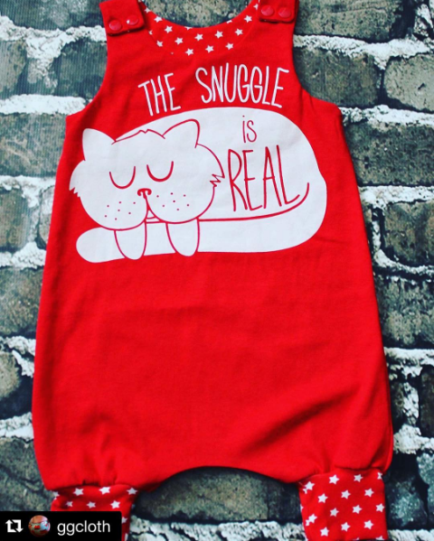 An awesome fan repurposing of a beloved $6 tee <3 Snuggly!