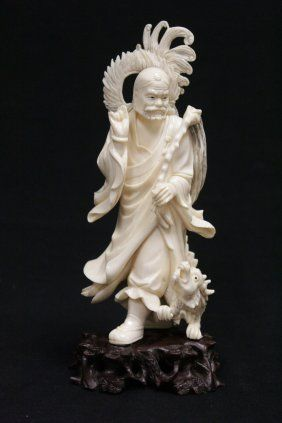 4722b412a Chinese Early 20th Century Ivory Carved Lohan