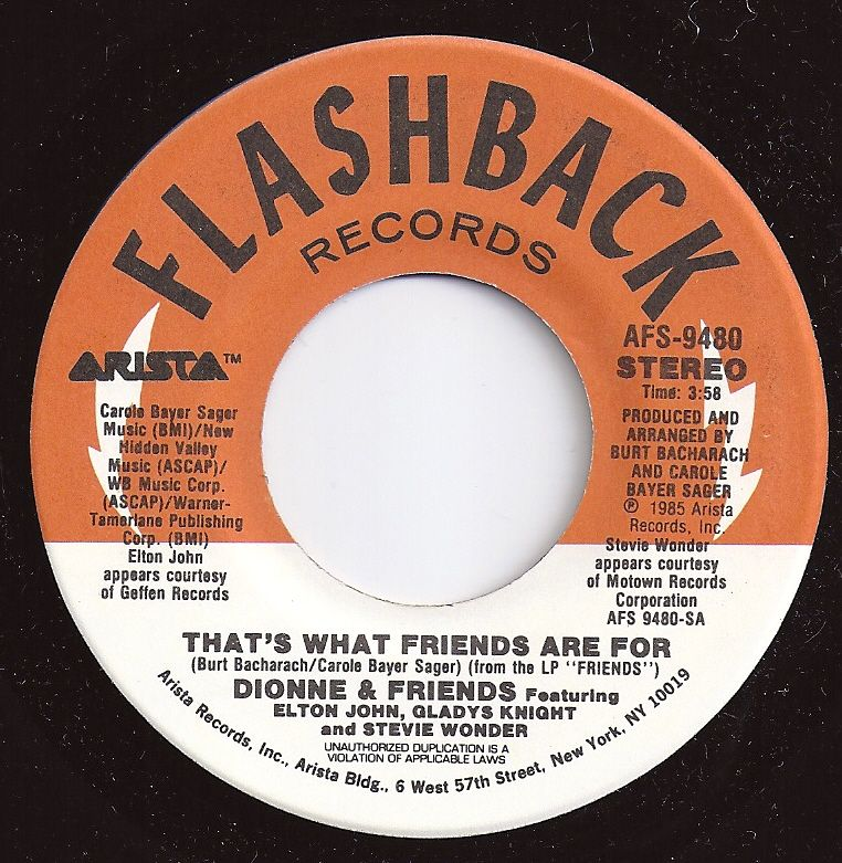 1 On Billboard That S What Friends Are For Dionne Warwick Friends Music Memories Z Music 1980s Music