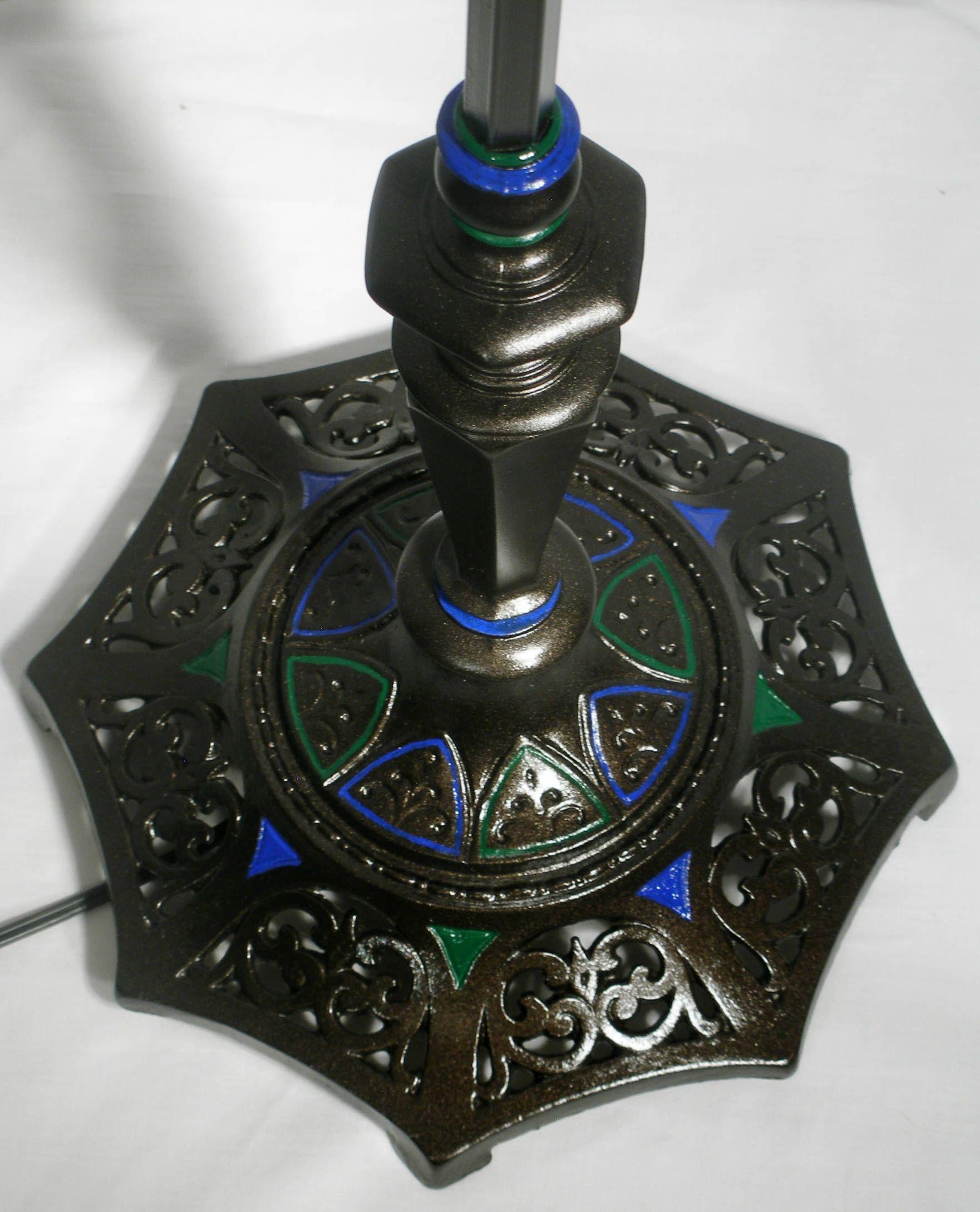 Vintage Floor Lamp Swan Neck Bridge Black Blue Green Rewired Reading Rewiring Antique Lamps Light By Oldstuffdave On Etsy