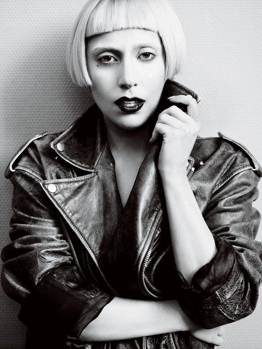 Lady Gaga wearing Hussein Chalayan in Vogue