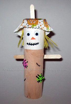 Fun Cardboard Tube Halloween Character Crafts! | Scarecrow crafts ...
