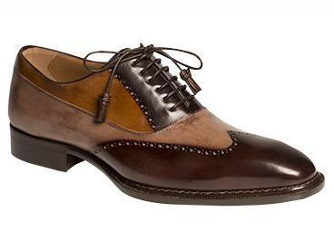 886a68a971 Mezlan Custom Brown Tri-Color Wingtip Shoes Benoni