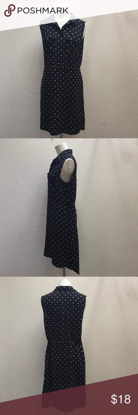 Uniqlo black and white dotted dress size l my posh picks pinterest