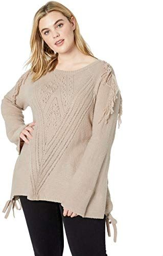 Amazing offer on Vintage America Blues Women's Plus Size Luca Fringe Detailed Pullover Sweater online - Chictrendyfashion 1