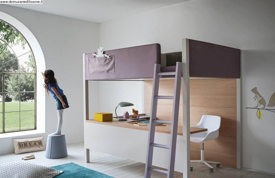 Letto A Soppalco Con Scrivania Per Bambini.Letto A Castello Con Scrivania Scrivanie Kids Bedroom Bunk Bed