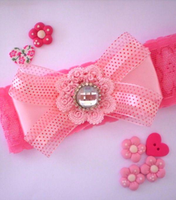 Enfeite De Tiara ~ tiara infantil rosa Enfeite de Cabelo Pinterest Enfeites de cabelo, Enfeites e Passo