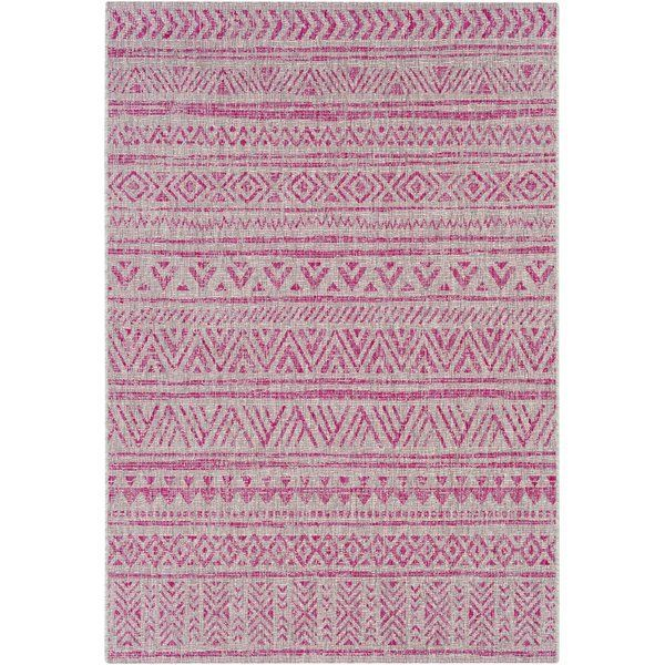 Photo of Tomas Geometric Bright Pink/Light Gray Area Rug – My Blog