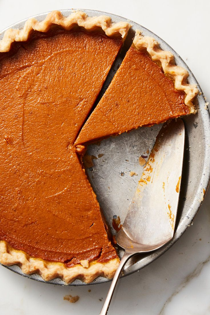 NYT Cooking: The secret to this rich, creamy pumpkin pie is aquafaba, or the liq…