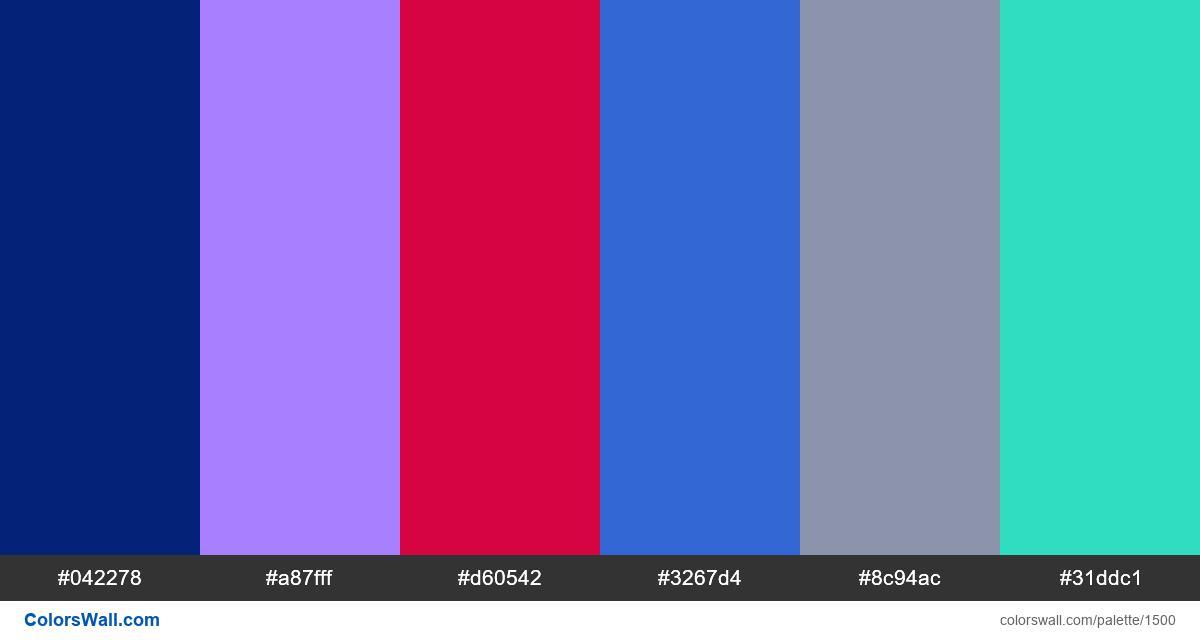 Data Visualization dashboard colors palette. HEX colors ...