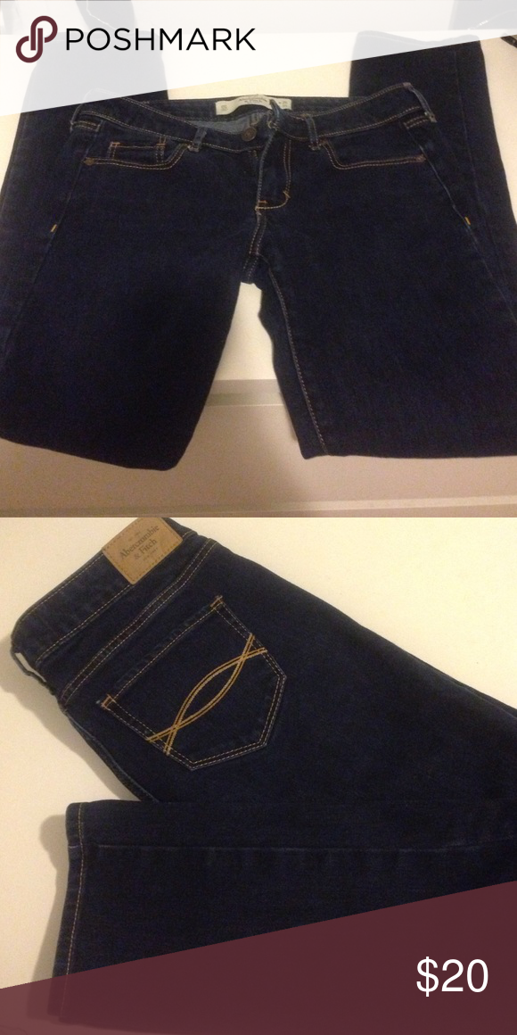 Abercrombie and Fitch low rise jeans A&F low rise jeans, straight  . W 25  L 31 . Great condition. Abercrombie & Fitch Jeans Straight Leg
