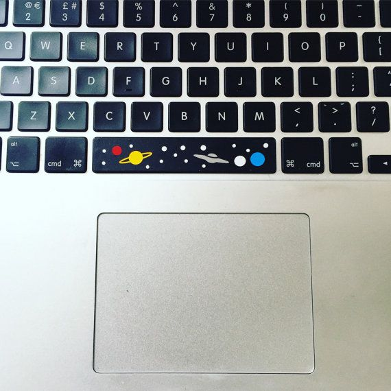 The original spacebar sticker with an alien visitor. Make your mac take off,  Its