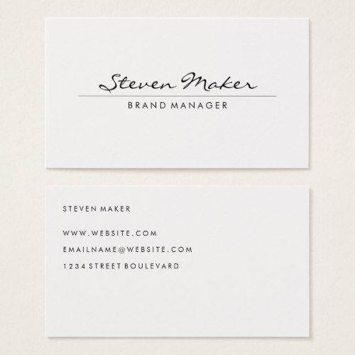 Minimalist Cursive Font Business Card Zazzle Com Cursive Fonts Cursive Cards
