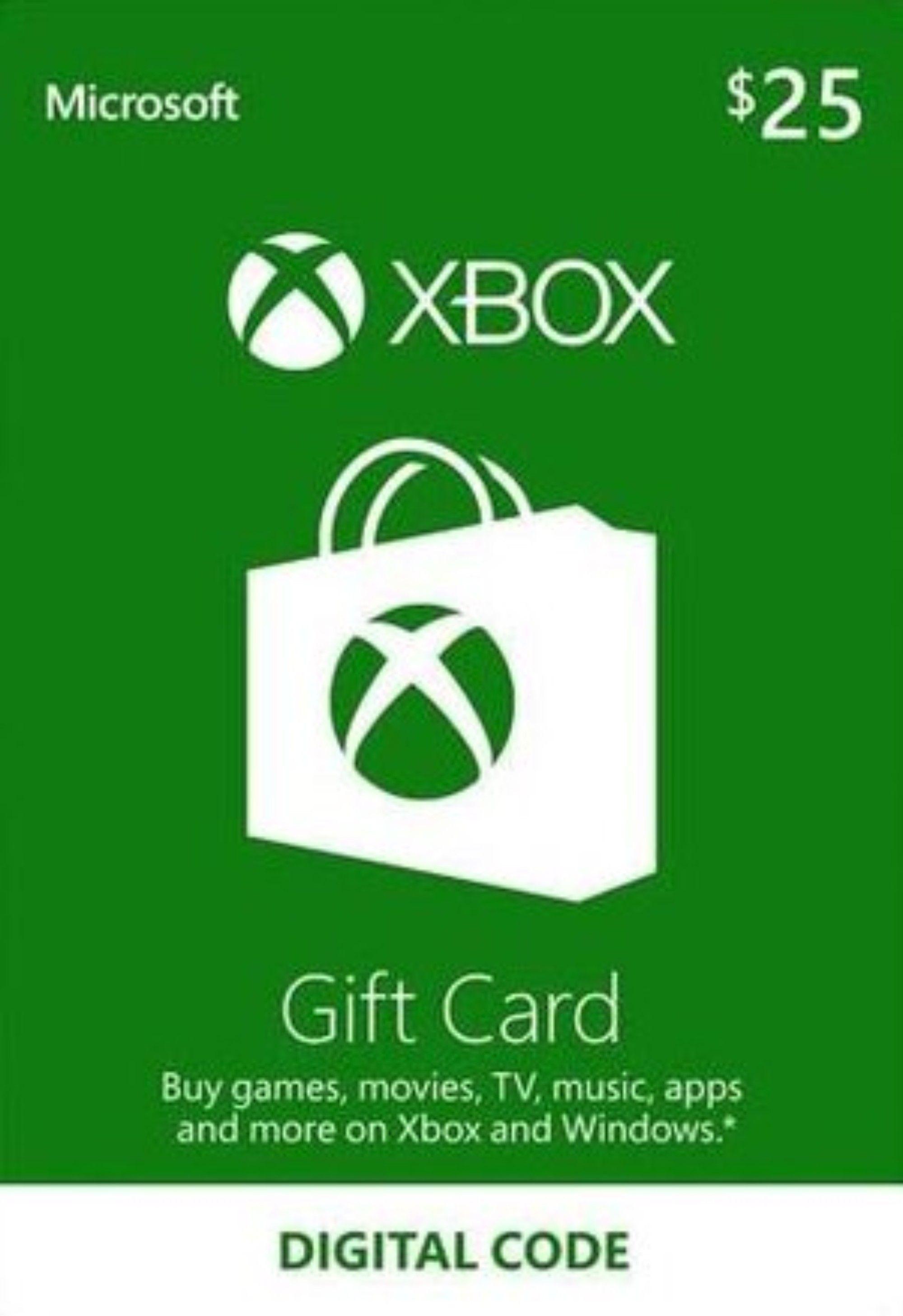 $25 xbox gift card code free