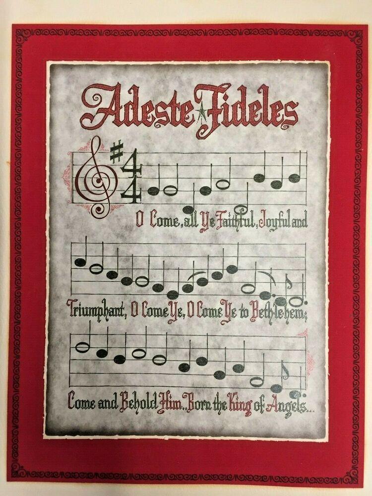Vintage Christmas Sheet Music Adeste Fideles 1940's 1950's Fragile Rare #Christmas #vintagesheetmusic Vintage Christmas Sheet Music Adeste Fideles 1940's 1950's Fragile Rare #Christmas #vintagesheetmusic