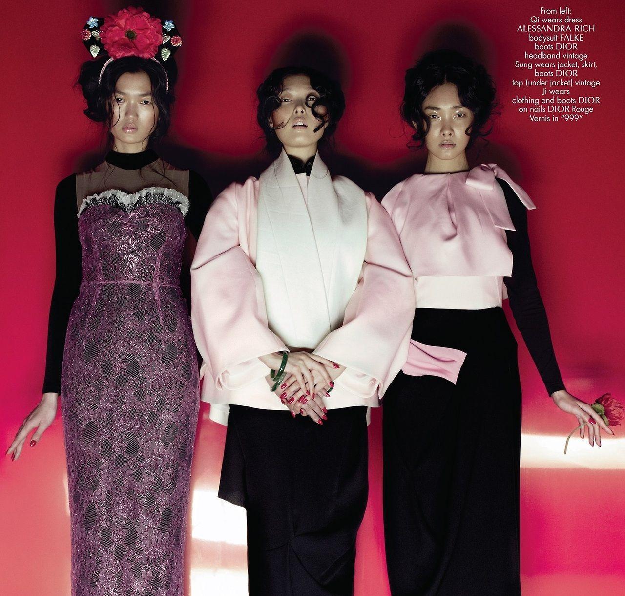 Gangs Of New Look - Xiao, Sung, Ji Young & Feng by Jean-Baptiste Mondino for CR Fashion Book Fall 2013