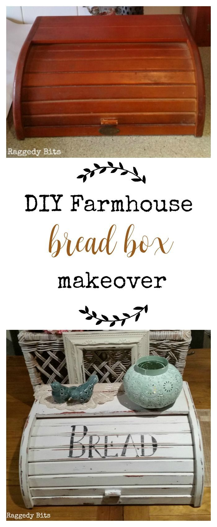 DIY Farmhouse Bread Box Makeover Farmhouse bread boxes
