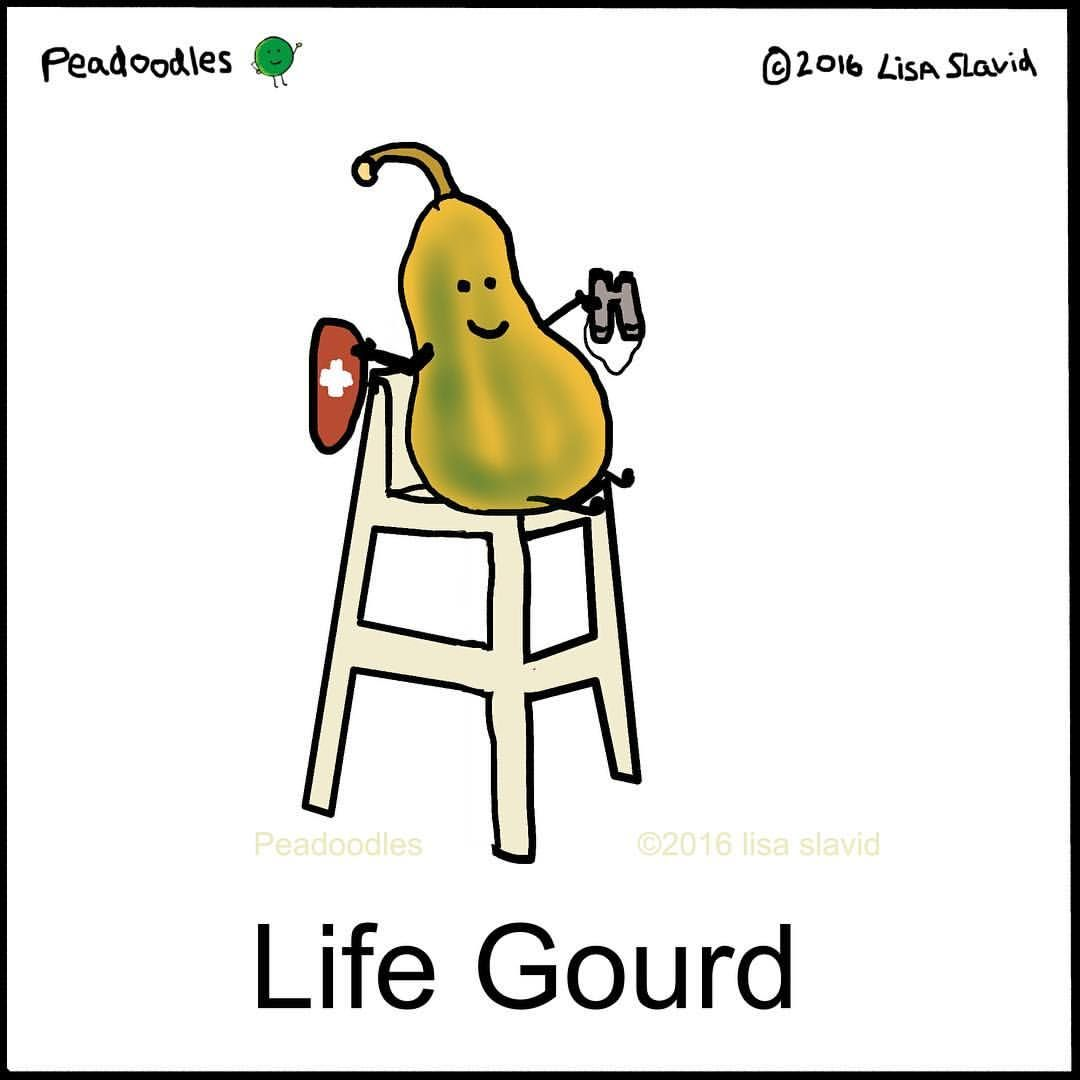 Life Gourd Illustration By Lisa Slavid Peadoodles Laughing Jokes Funny Pictures Punny