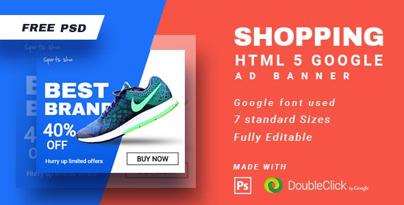 Shopping - HTML5 Animated Banner 15 | Banner template, Business ...