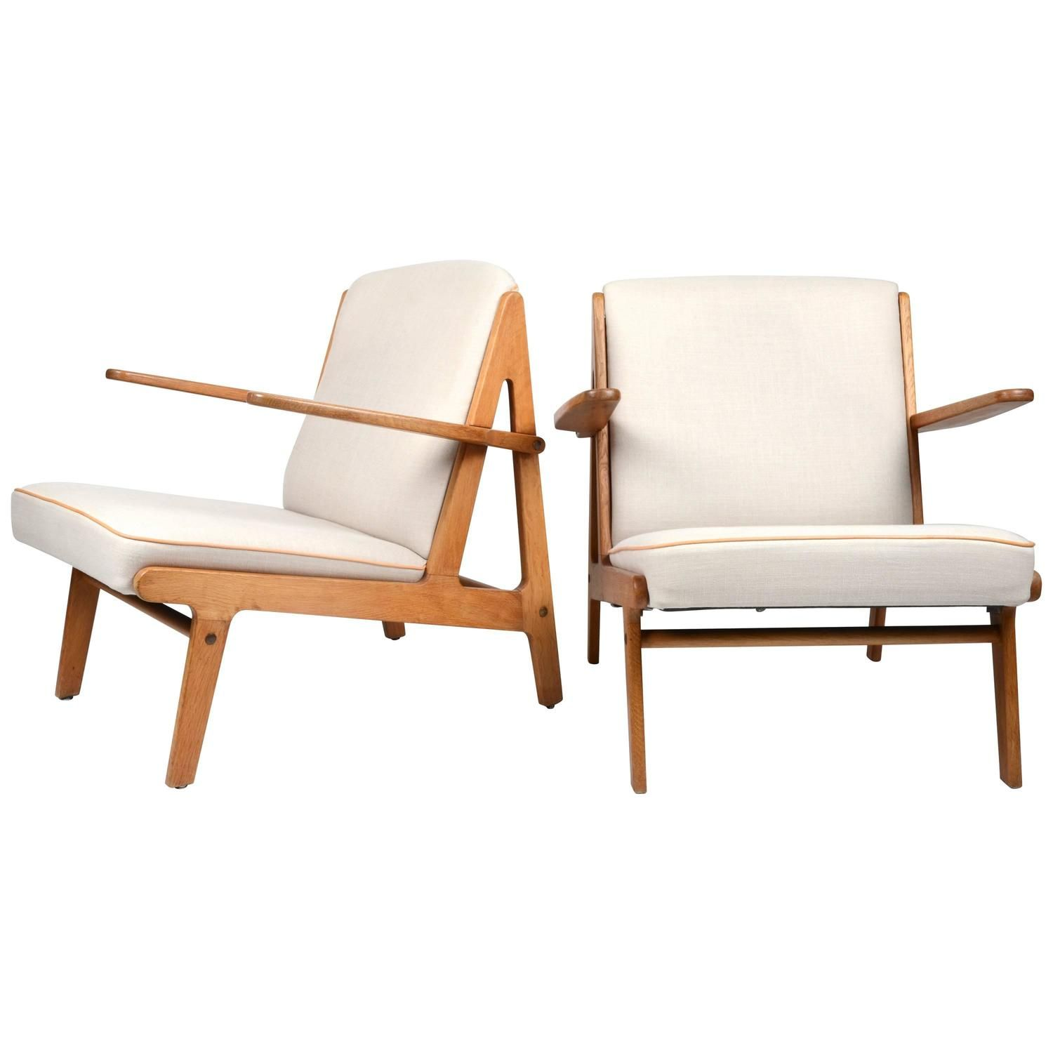 Pair of Easy Chairs, Børge Mogensen for Fredericia Stolefabrik, 1951 1