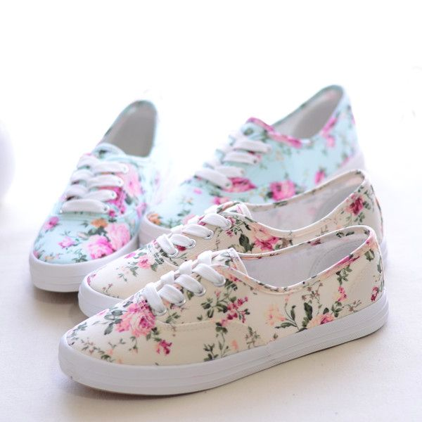Fashion women lace up causal floral print shoes low women s flat canvase  sneakers shoes lazy student single shoes 37e194d73